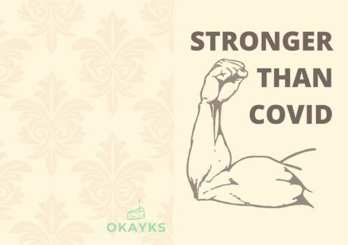 Greeting card Stronger than covid